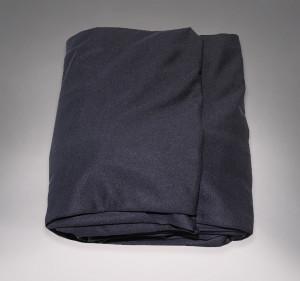 Lycra transparent noir